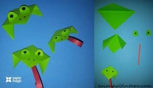 kağıttan nasıl yapılır kurbağa
