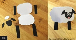 kağıttan nasıl yapılır kuzu