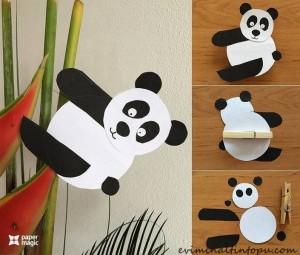 kağıttan nasıl yapılır panda