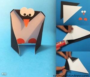 kağıttan nasıl yapılır penguen