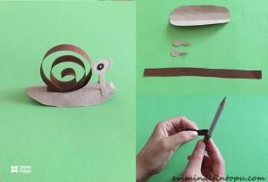 kağıttan nasıl yapılır salyangoz