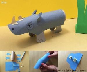 kağıttan nasıl yapılır su aygırı