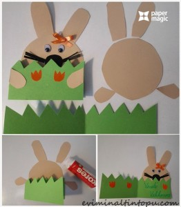 kağıttan nasıl yapılır tavşan