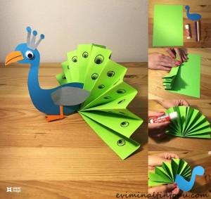 kağıttan nasıl yapılır tavus kuşu