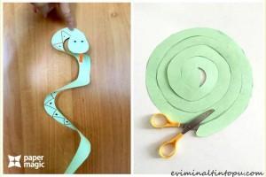 kağıttan nasıl yapılır yılan (2)