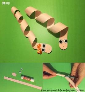 kağıttan nasıl yapılır yılan