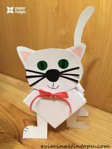 keğıttan kedi yapımı