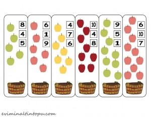 mandal ile sayı çalışması elma temalı (2)