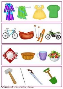 okul önces, hangisi farklı çalışmaları (5)