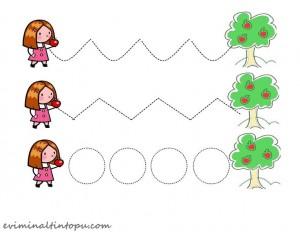 okul öncesi elma temalı yazıya hazırlık çalışmaları (5)