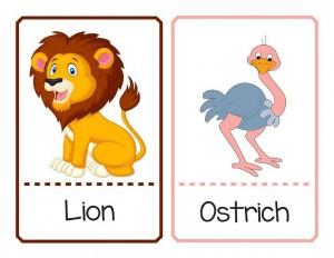 okul öncesi sevimli hayvan eşleştirme kartları