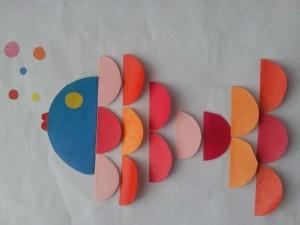 dairesel kağıtlardan sanat etkinlikleri (1)