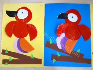 dairesel kağıtlardan sanat etkinlikleri (4)
