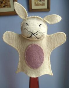 el yapımı tavşan kuklaları