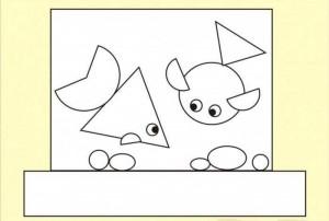 geometrik şekiller ile kes yapıştır çalışmaları okul öncesi (2)