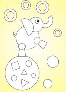 geometrik şekiller ile kes yapıştır çalışmaları okul öncesi (3)