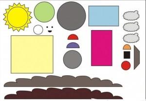 geometrik şekiller ile kes yapıştır çalışmaları okul öncesi (4)