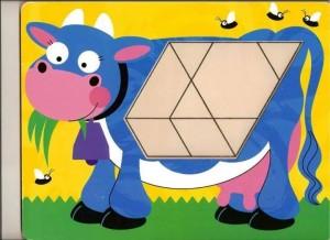 hayvanlar  temalı tangram örüntü blokları