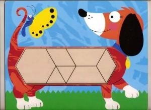 köpek temalı tangram örüntü blokları