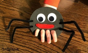 karton ile örümcek kuklası yapımı