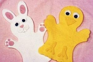 keçeden ördek tavşan kuklası yapımı