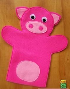 keçeden domuz kuklası yapımı