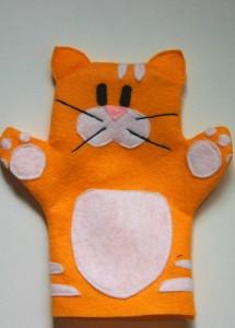 keçeden kedi kuklası yapımı
