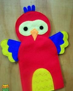 keçeden kuş kuklası yapımı