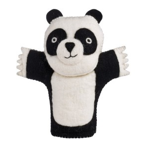 keçeden panda kuklası yapımı