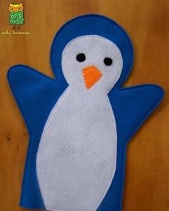 keçeden penguen kuklası yapımı