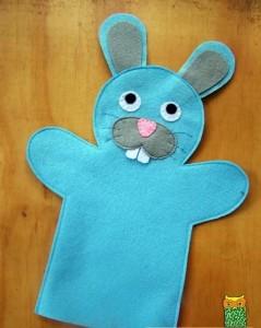 keçeden tavşan kuklası yapımı
