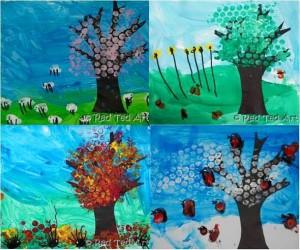 mevsimler el baskısı sanat etkinlikleri (1)