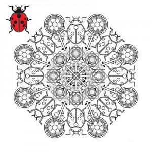 uğur böceği mandala çalışmaları (17)
