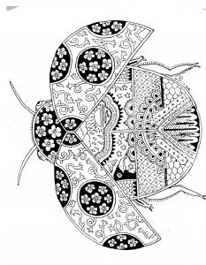 uğur böceği mandala çalışmaları (2)