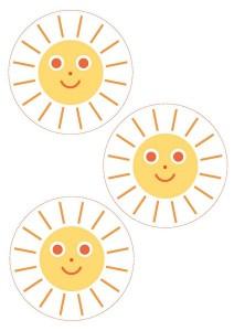 güneş dikiş kartları