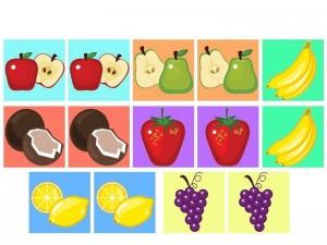 meyveler hafıza kartları