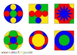 okul öncesi boyama ile örüntü çalışmaları (2)