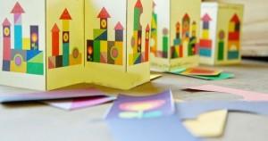 renkli kağıtlar ile kale inşa etme
