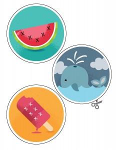 yaz mevsimi temalı dikiş kartı