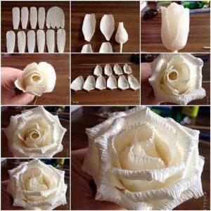 grafon kağıdından çiçek (kalıpları ve yapım aşamasıyla) (1)