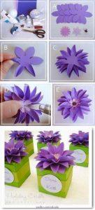 grapon kağıtlarından çiçek yapımı (2)