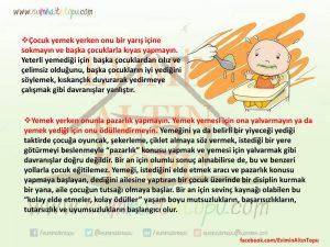 iştahsız çocuk için tavsiyeler