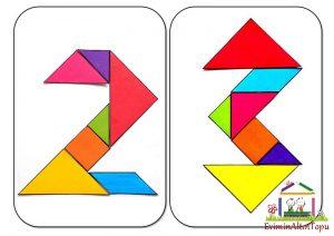 origami - tangram etkinlikleri için (2)