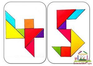 origami - tangram etkinlikleri için (3)