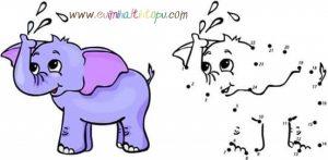 ritmik sayma boyama çalışması çocuklar için (5)