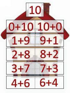 10 toplamını veren sayılar