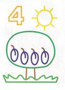 4 sayısı boyama