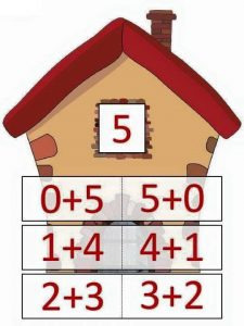 5 toplamını veren sayılar
