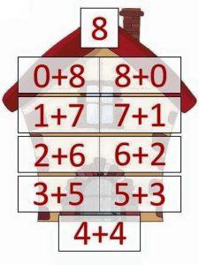 8 toplamını veren sayılar