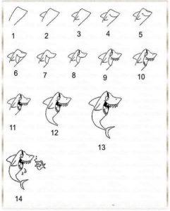 adım adım köpek balığı çizimi